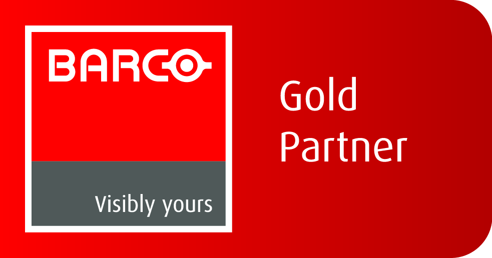 Barco_gold_partner_label_red